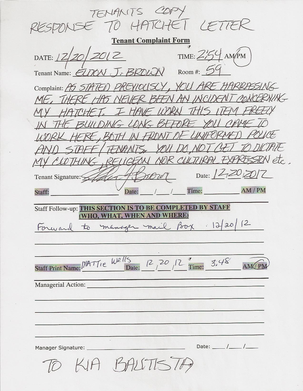 Eldons Response To Kia Letter