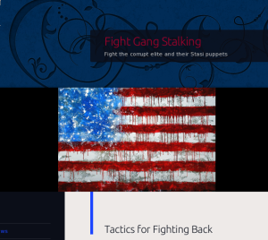 Fight Gangs Stalking website logo