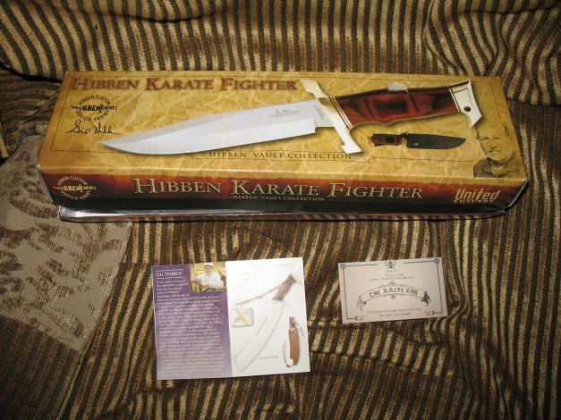 Hibben Karate Fighter knife box & inserts