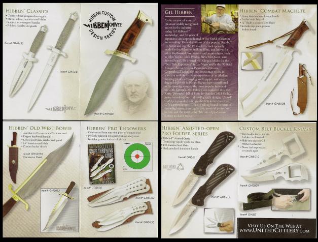 Hibben Karate Fighter knife box pamphlet 2