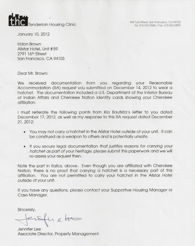 Jennifer Lee's second letter