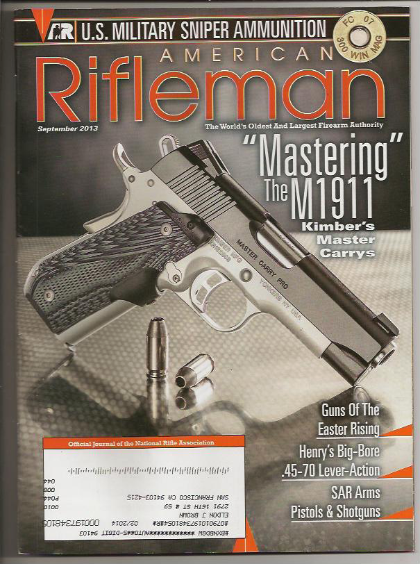NRA American Rifleman magazine cover