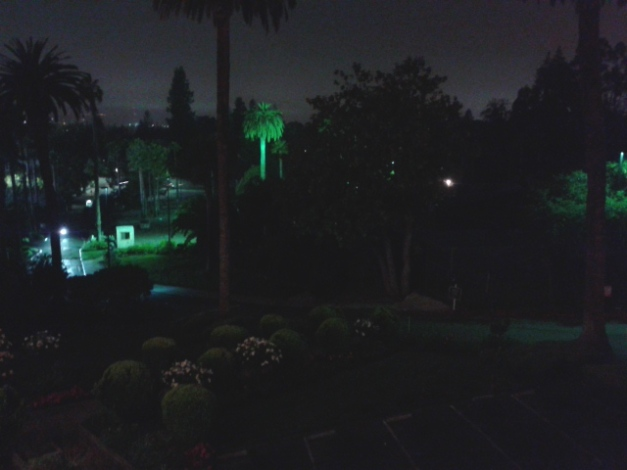 Almost the same view, at night, on 07-16-2015.