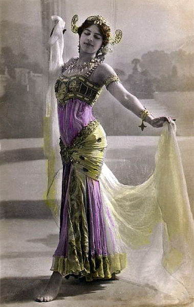 Convicted spy Mata Hari made her name synonymous with femme fatale during WWI.