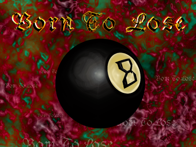 Photoshop 5.5 and Swift 3D text tool utilizing Gothic font. Same tools used as on 9 ball except plastic wrap filter was used for ivory. I've forgotten how I did the background.