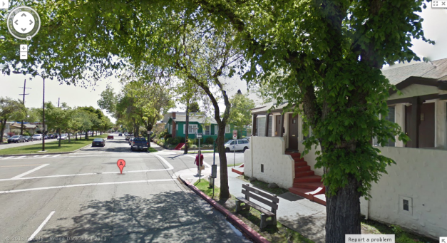 This is the AC Transit bus stop that I used to wait at for the #88 bus, in the dark.