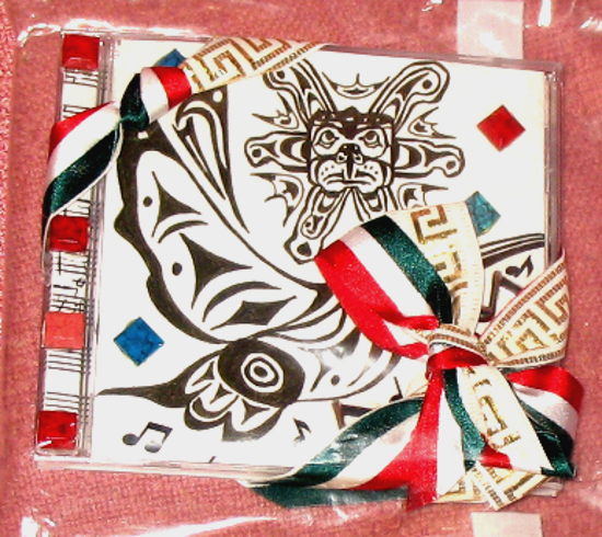 Metallic fabric ribbon with green, white and red stripes. White fabric ribbon with metallic geometric repeating pattern.