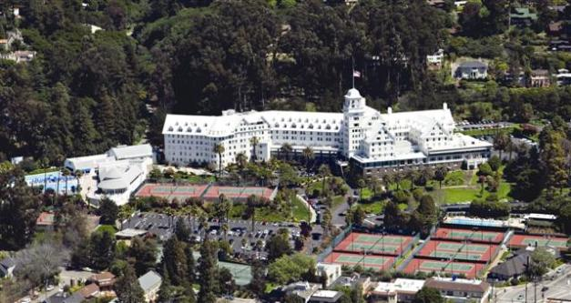 """The Claremont Hotel in Berkeley, California. This hotel always reminded me of the one on the old TV show """"Fantasy Island""""."""