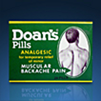 This is how the Doan's Pills packaging looked like back in the 1980's.