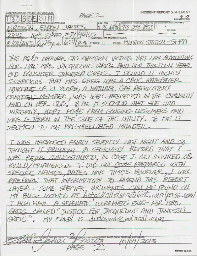 Eldon's Gangstalking incident report #130855319 p.2