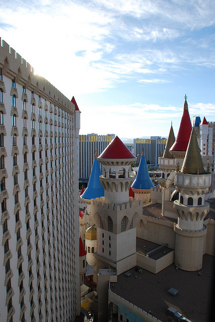 The Excalibur from a room in the daytime.