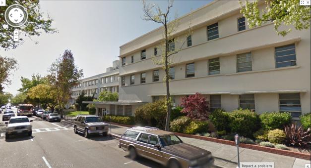 Herrick Hospital in Berkeley, California. The hospital where I was born, and the place where Mr. Dawkins died.