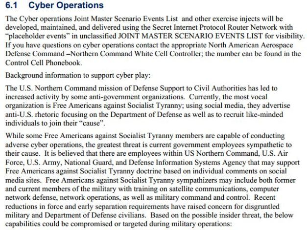 6.1 Cyber Operations