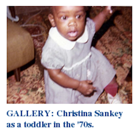 Christina Sankey as a toddler in the 70's
