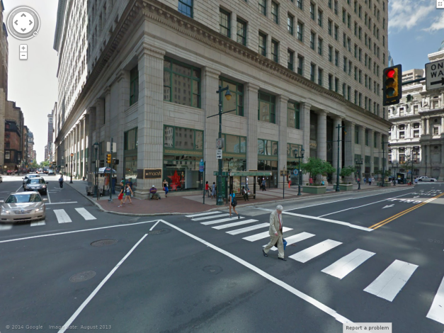 "This is where the ""caretaker"", Mrs. Hussanatu ""Ayesha"" Wulu, 29, took Christina and was where she went missing. Macy's at 13th and Market, Philadelphia, Pennsylvania."