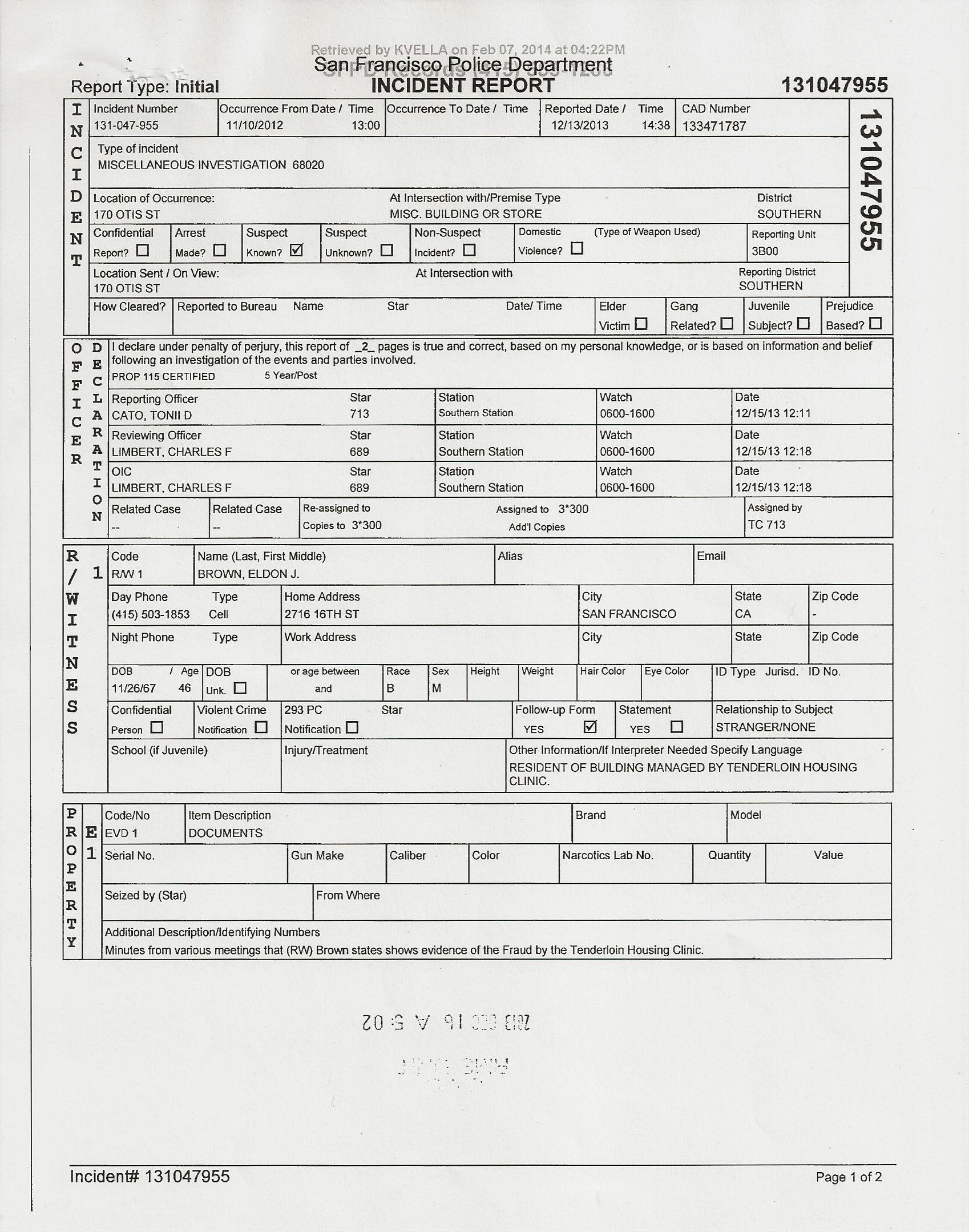 police complaint form template .