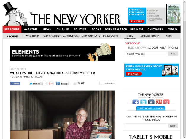The New Yorker NSL