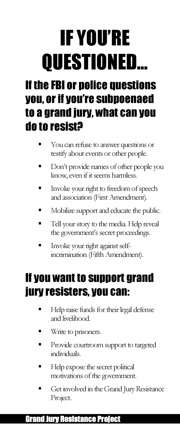 Grand Jury Resistance Project brochure page 5