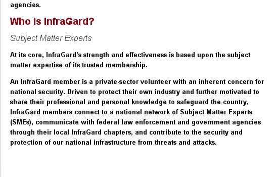 Who is Infragard????