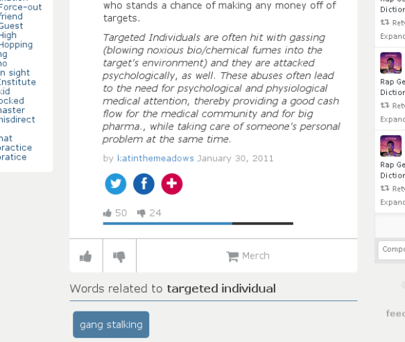 Urban Dictionary – Targeted Individual poison gassing / How actress