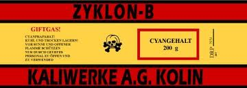 Zyklon B label