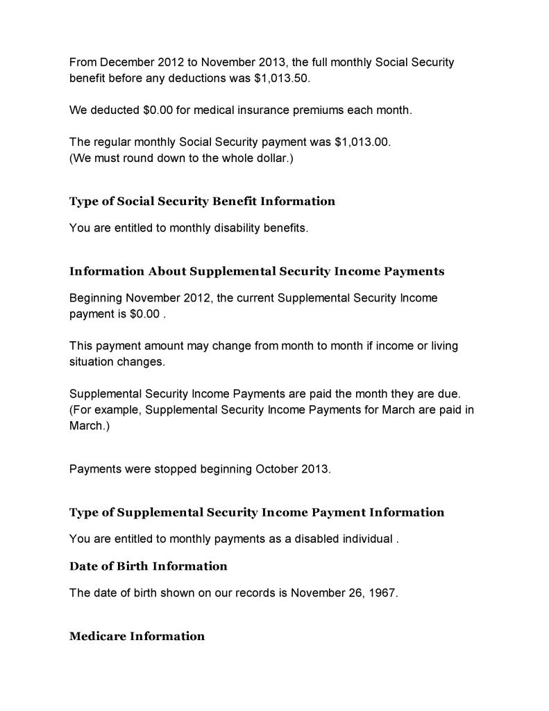 Social Security Letter Of Benefits.Social Security Benefits Verification Letter 002 All Star