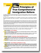 7 principles of true immigration reform graphic