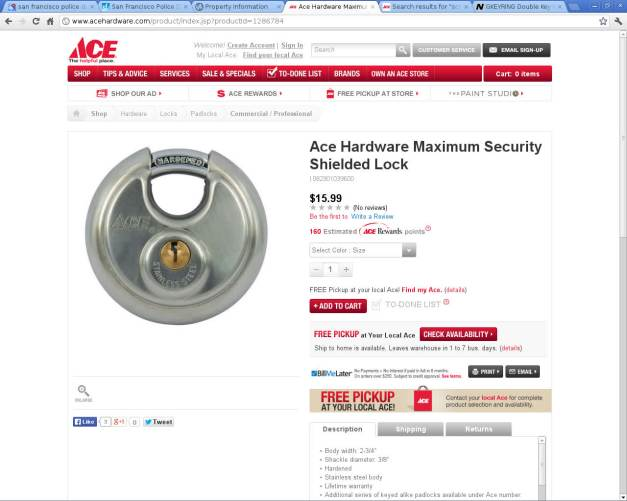 Ace Hardware Maximum Security Shielded Lock_2014-09-06_195935
