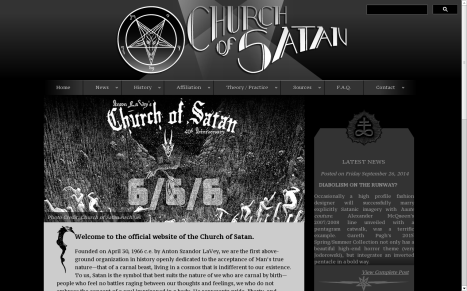 Church Of Satan homepage