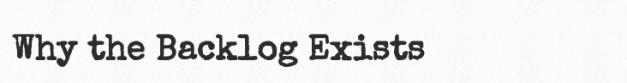 Endthebacklog why logo