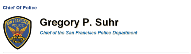 Gregory P. Suhr chief of sf police