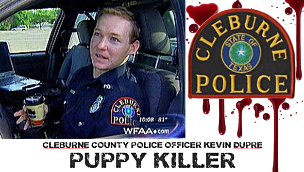 Cleburne County Police Officer Kevin Dupre banner