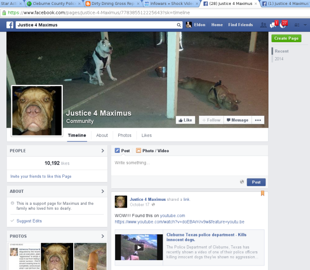 "Click to go to ""Justice 4 Maximus"" facebook page."