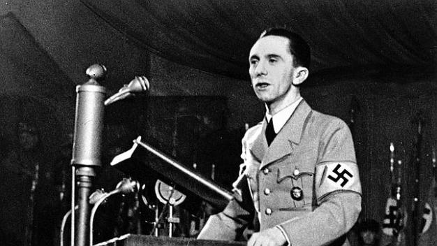 Joseph Goebbels, Minister of Propaganda of Hitler's Third Reich (Third Empire).