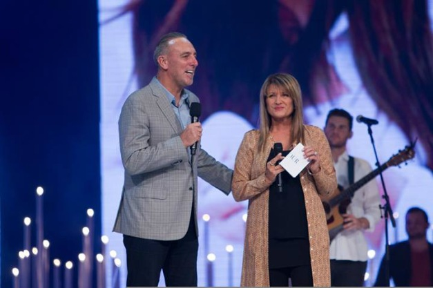 Brian C. Houston and Bobbie Houston, founding pastors of Hillsong Church, appear in a photo shared on Facebook in March 2014.