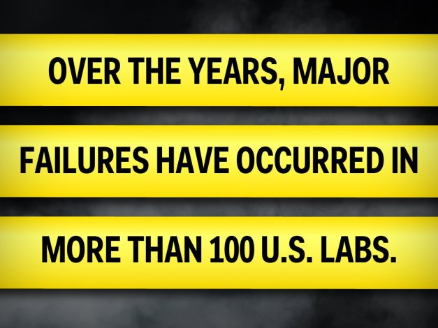 100 U.S. lab failures