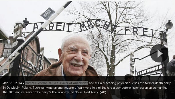 Marcel Tuchman, 93, a survivor of Auschwitz_2015-01-27_000712