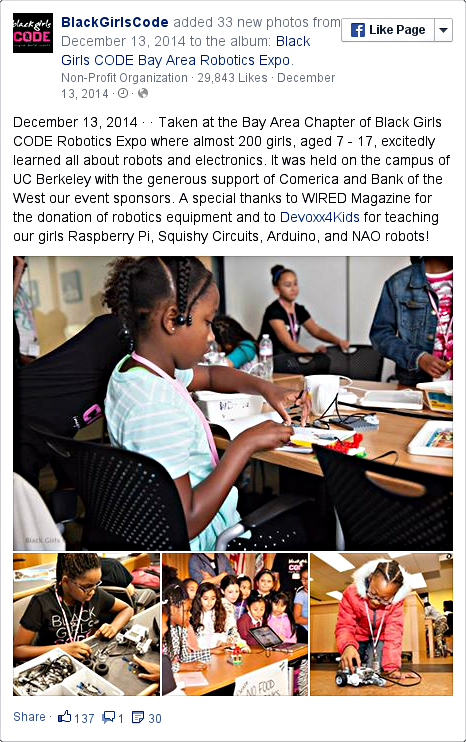 Black girls CODE facebook pic