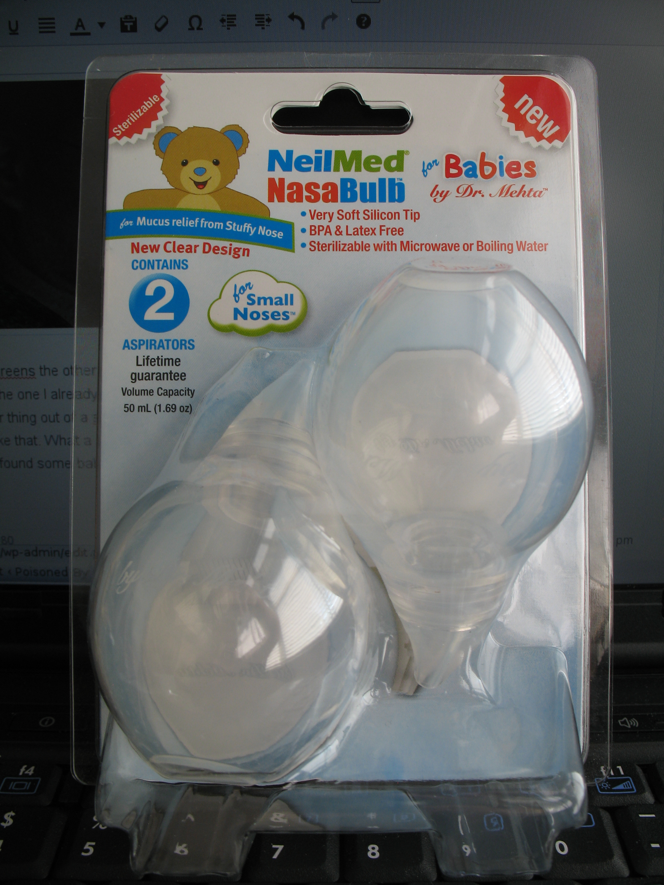 Baby Mehta O-4 Other Baby Safety & Health Neilmed Nasabulb For Babies & Kids Clear Design By Dr