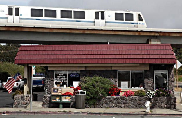 The Red Onion resturaunt accross the street. Never ate there although we got coupons when the store first opened. The guy who bought it after I left was shot & killed in it but it is still in operation. Click for a review.